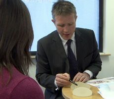 David Oliver offering advice on breast implants, Devon, South West