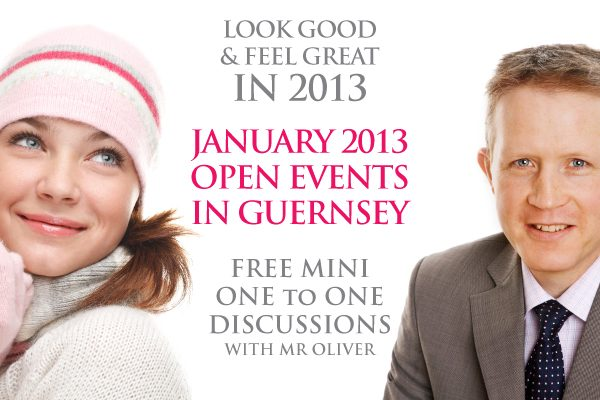 David Oliver Cosmetic Surgery Open Events a Guernsey in January 2013