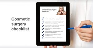 David Oliver considering cosmetic surgery checklist