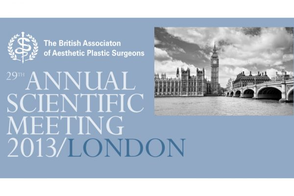 David Oliver, Cosmetic Surgeon attends BAPRAS Meeting 2013