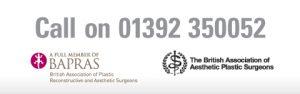Mr David Oliver Cosmetic Surgeon Call us on 01392 350052 Exeter Torbay Guernsey Header