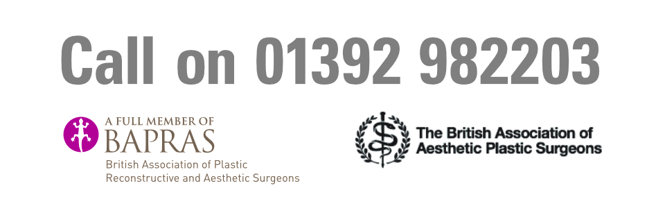 Mr David Oliver Cosmetic Surgeon Call us on 01392 982203 Exeter Torbay Guernsey Header